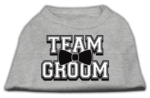 Team Groom Screen Print Shirt Grey Xxl (18)