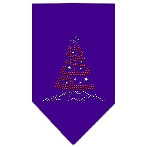 Peace Tree Rhinestone Bandana Purple Large