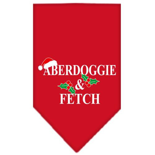 Aberdoggie Christmas Screen Print Bandana Red Large