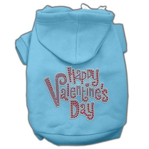 Happy Valentines Day Rhinestone Hoodies Baby Blue Xs (8)
