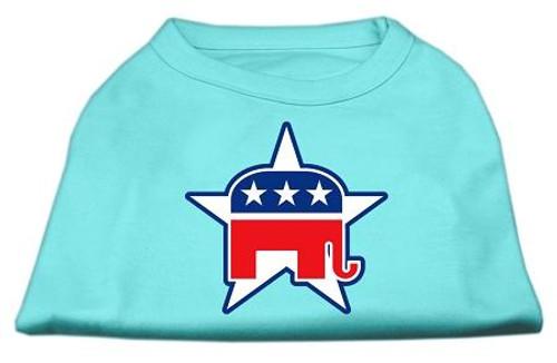 Republican Screen Print Shirts  Aqua Xl (16)