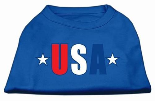 Usa Star Screen Print Shirt Blue Xxl (18)