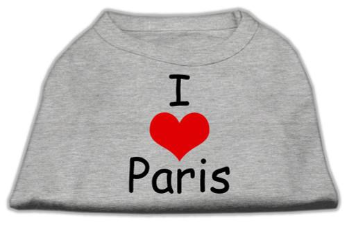 I Love Paris Screen Print Shirts Grey Med (12) - 51-37 MDGY