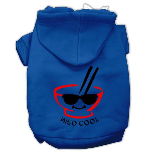 Miso Cool Screen Print Pet Hoodies Blue Size Xxxl (20)