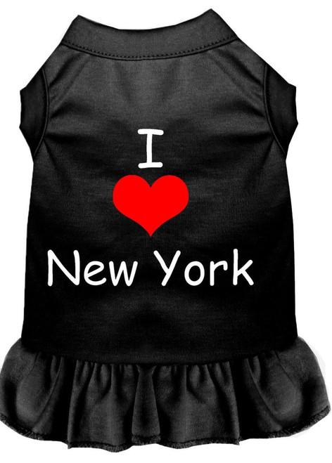 I Heart New York Screen Print Dress Black Xs (8)