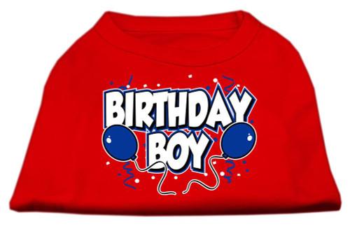 Birthday Boy Screen Print Shirts Red Med (12) - 51-05 MDRD