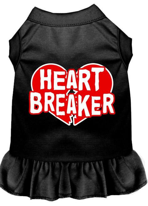 Heart Breaker Screen Print Dress Black 4x (22)