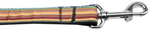 Autumn Stripes Nylon Dog Leash 3/8 Inch Wide 4ft Long