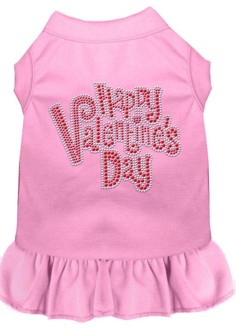 Happy Valentines Day Rhinestone Dress Light Pink 4x (22)