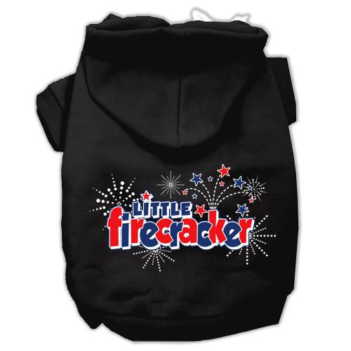 Little Firecracker Screen Print Pet Hoodies Black Xxl (18)