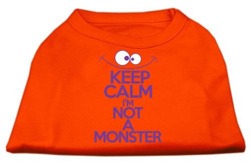 Keep Calm Screen Print Dog Shirt Orange Xxxl (20)