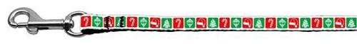 Timeless Christmas Nylon Ribbon Leash 3/8 Inch Wide 4ft Long - 25-23 3804
