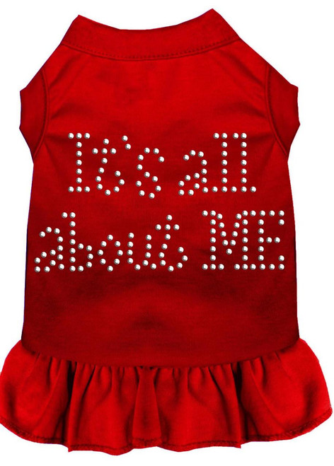 Rhinestone All About Me Dress Red Xs (8)