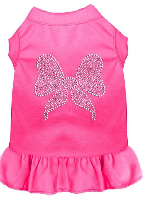 Rhinestone Bow Dress Bright Pink Xxxl (20)