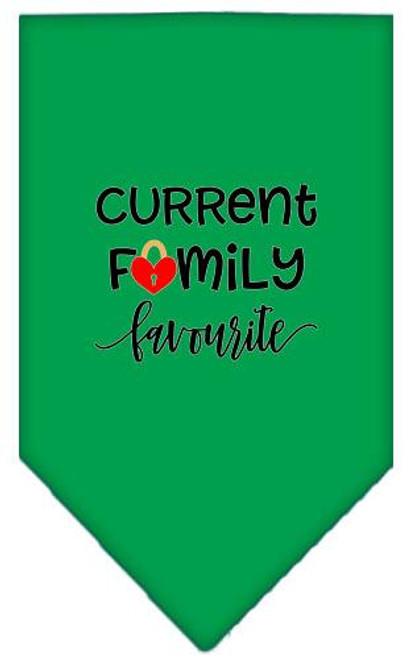 Family Favorite Screen Print Bandana Emerald Green Large