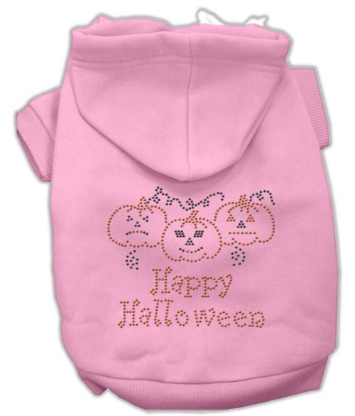 Happy Halloween Rhinestone Hoodies Pink L (14)