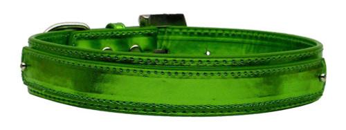 "3/4"" (18mm) Metallic Two-tier Collar  Emerald Green Large - 18-02 LGEGM"