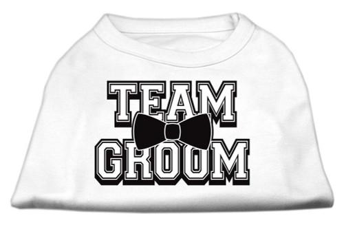 Team Groom Screen Print Shirt White Xxl (18)