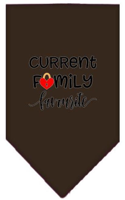 Family Favorite Screen Print Bandana Cocoa Large