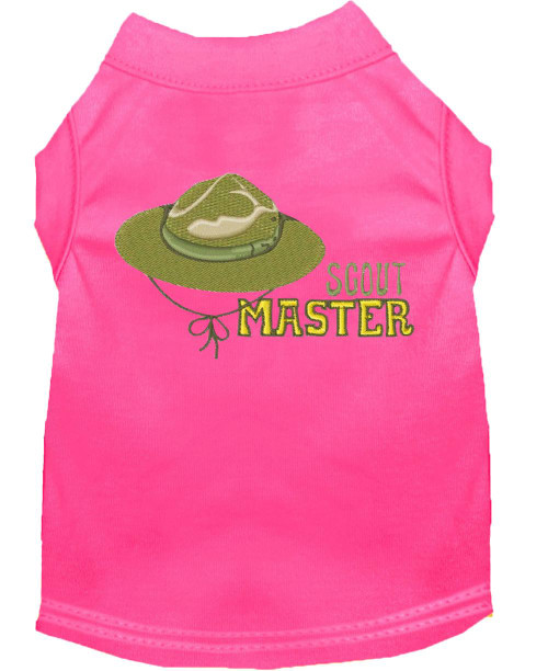Scout Master Embroidered Dog Shirt Bright Pink Xxxl (20)