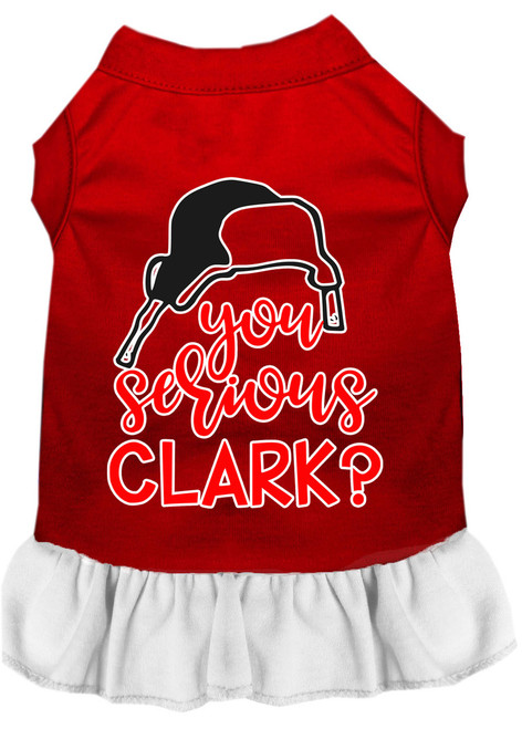 You Serious Clark? Screen Print Dog Dress Red With White Xxl