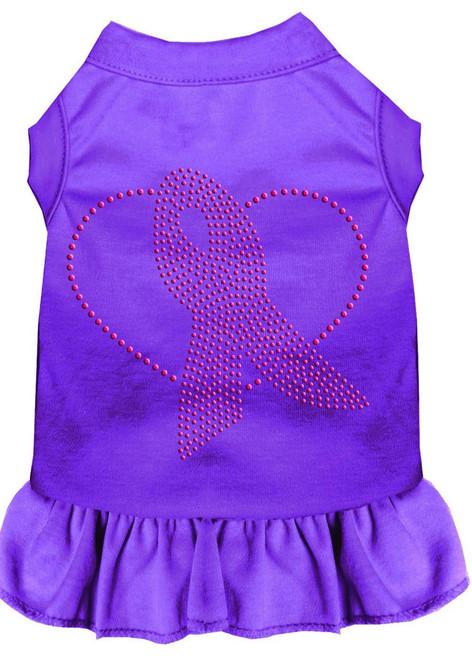 Pink Ribbon Rhinestone Dress Purple 4x (22)