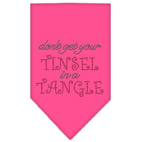 Tinsel In A Tangle Rhinestone Bandana Bright Pink Small