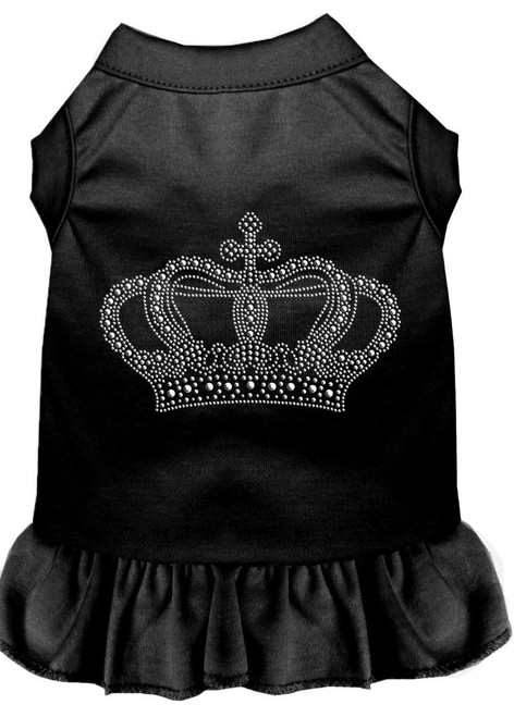 Rhinestone Crown Dress Black Xs (8)
