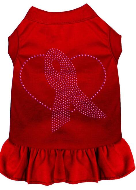 Pink Ribbon Rhinestone Dress Red 4x (22)