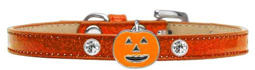 Pumpkin Charm Dog Collar Orange Ice Cream Size 10