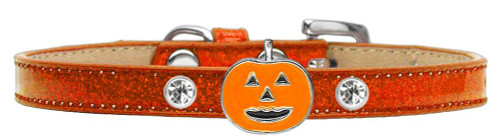 Pumpkin Charm Dog Collar Orange Ice Cream Size 16