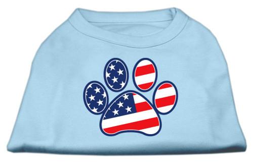 Patriotic Paw Screen Print Shirts Baby Blue Xxl (18)