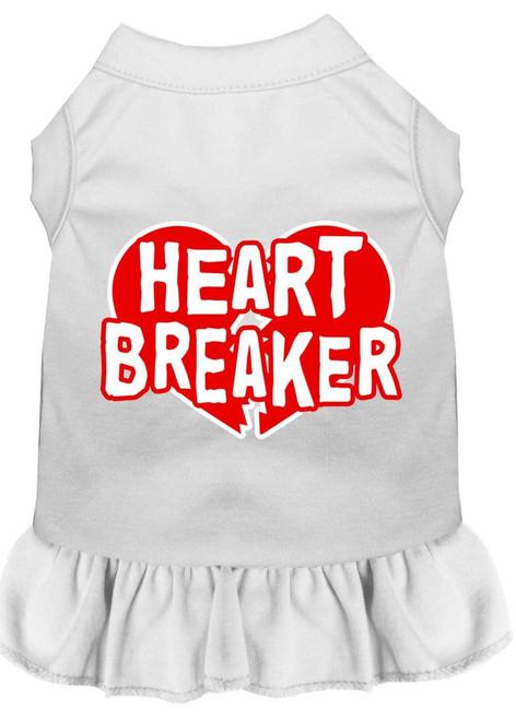 Heart Breaker Screen Print Dress White 4x (22)