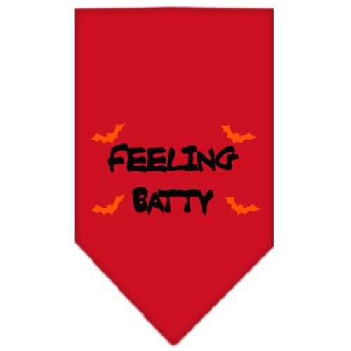 Feeling Batty Screen Print Bandana Red Large