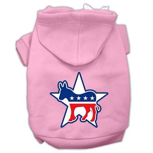 Democrat Screen Print Pet Hoodies Light Pink Size Med (12)