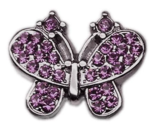 "3/8"" Slider Butterfly Charm Purple 3/8"" - 10-20 38PR"