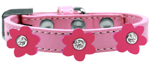 Flower Premium Collar Light Pink With Pink Flowers Size 12