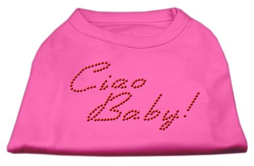 Ciao Baby Rhinestone Shirts Bright Pink L (14)