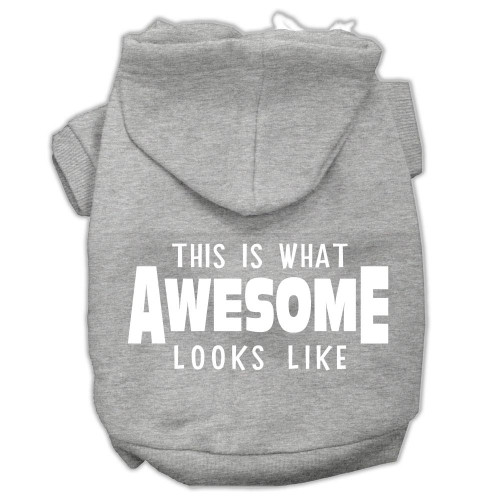 This Is What Awesome Looks Like Dog Pet Hoodies Grey Size Xl (16)