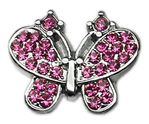 "3/8"" Slider Butterfly Charm Pink 3/8"" - 10-20 38PK"