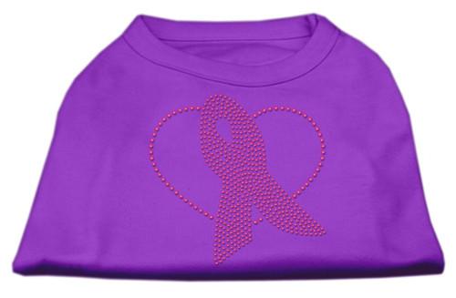 Pink Ribbon Rhinestone Shirts Purple Xs (8)