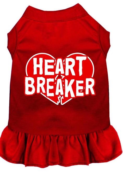 Heart Breaker Screen Print Dress Red 4x (22)