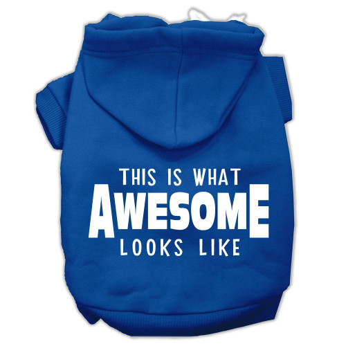 This Is What Awesome Looks Like Dog Pet Hoodies Blue Size Xl (16)