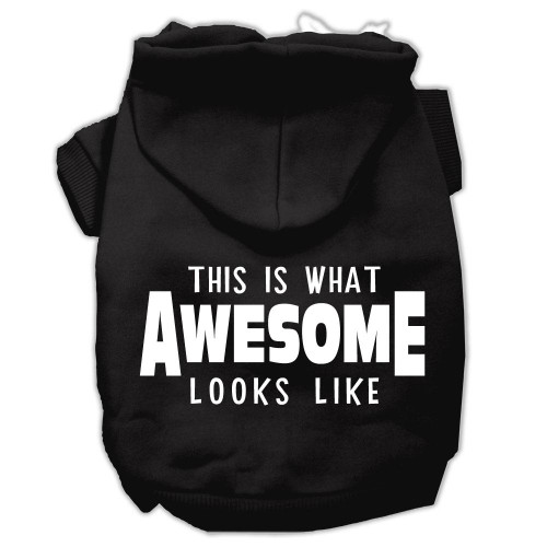 This Is What Awesome Looks Like Dog Pet Hoodies Black Size Xl (16)