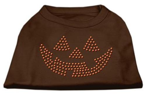 Jack O' Lantern Rhinestone Shirts Brown Xxl (18)