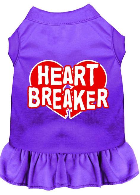 Heart Breaker Screen Print Dress Purple 4x (22)
