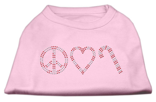 Peace, Love, And Candy Canes Shirts Light Pink Xxl (18)