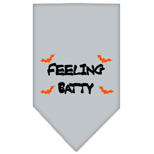 Feeling Batty Screen Print Bandana Grey Large