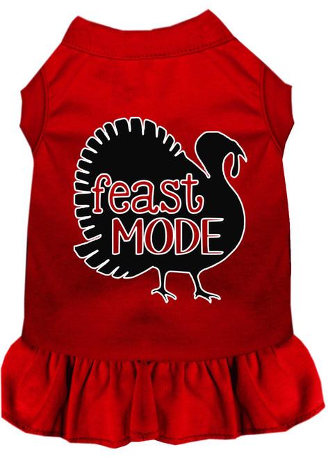 Feast Mode Screen Print Dog Dress Red Xxxl