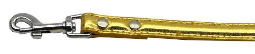 "3/4"" (18mm) Metallic Two-tier Collar  Gold 1/2"" Leash - 18-02 12GDM"